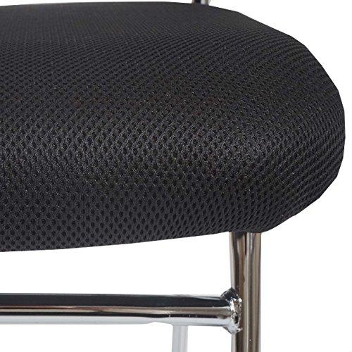 2x Konferenzstuhl Beveren, Besucherstuhl stapelbar, Textil ~ Rückenlehne schwarz - 2