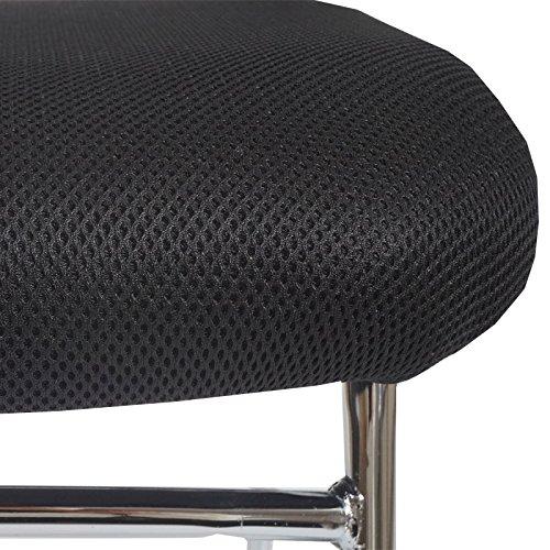 2x Konferenzstuhl Beveren, Besucherstuhl stapelbar, Textil ~ Rückenlehne schwarz - 3