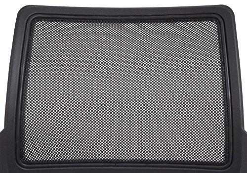 2x Konferenzstuhl Beveren, Besucherstuhl stapelbar, Textil ~ Rückenlehne schwarz - 4