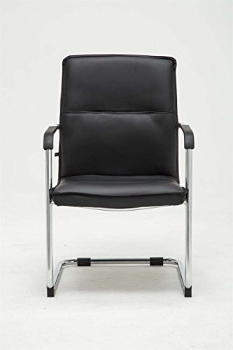 CLP Freischwinger-Stuhl mit Armlehne SEATTLE, Besucherstuhl / Konferenzstuhl mit gepolsterter Sitzfläche, FARBWAHL schwarz - 2