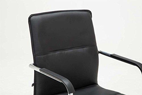 CLP Freischwinger-Stuhl mit Armlehne SEATTLE, Besucherstuhl / Konferenzstuhl mit gepolsterter Sitzfläche, FARBWAHL schwarz - 5