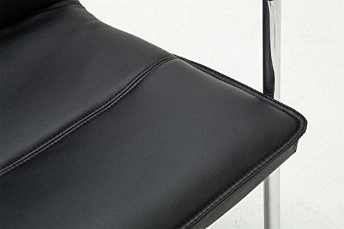 CLP Freischwinger-Stuhl mit Armlehne SEATTLE, Besucherstuhl / Konferenzstuhl mit gepolsterter Sitzfläche, FARBWAHL schwarz - 7