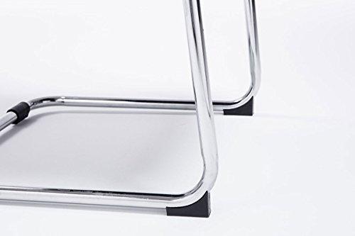 CLP Freischwinger-Stuhl mit Armlehne SEATTLE, Besucherstuhl / Konferenzstuhl mit gepolsterter Sitzfläche, FARBWAHL schwarz - 8