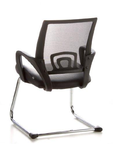 Konferenzstuhl / Freischwinger / Stuhl VISTO NET V Netzstoff schwarz Chrom hjh OFFICE - 9